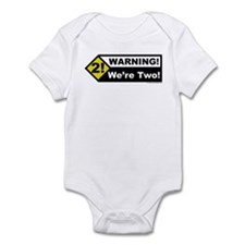 Warning! We're Two! Infant Bodysuit