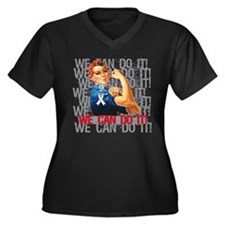 Rosie The Riveter Scoliosis Plus Size T-Shirt