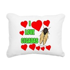 I Love Cicadas Rectangular Canvas Pillow