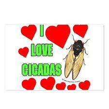 I Love Cicadas Postcards (Package of 8)