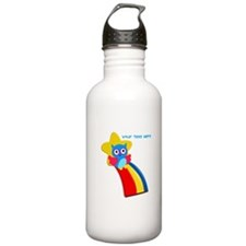 Add Your Own Text Owl Water Bottle