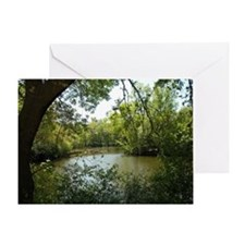 River Trees Greeting Card