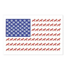 Patriotic Schnauzer Postcards (Package of 8)