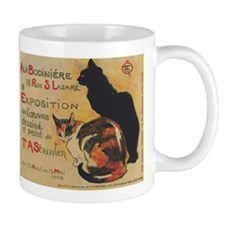 Two Cats, Vintage Poster, Steinlen Small Mug