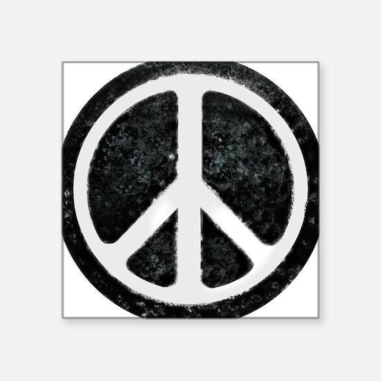 Original Vintage Peace Sign Rectangle Sticker