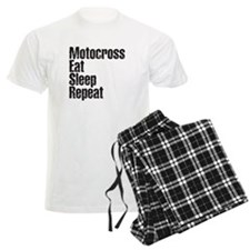 Motorcross Eat Sleep Repeat Pajamas