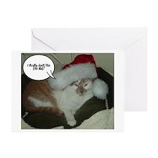 Christmas Orange Tabby Cat Greeting Cards (Pk of 2