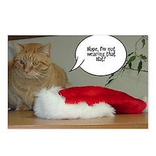 Christmas Orange Tabby Cat Postcards (Package of 8