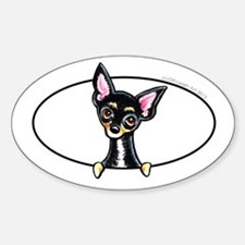 Chihuahua B/T Smooth Peeking Decal