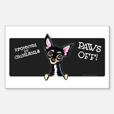 Chihuahua B/T PAWS OFF Decal