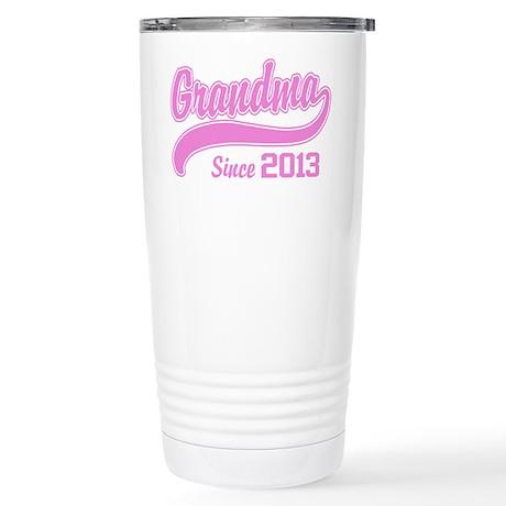 Grandma Since 2013 Stainless Steel Travel Mug