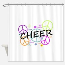 Cheer Peace Sign Shower Curtain