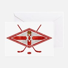 Northern Ireland Ice Hockey Greeting Card