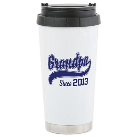 Grandpa Since 2013 Stainless Steel Travel Mug