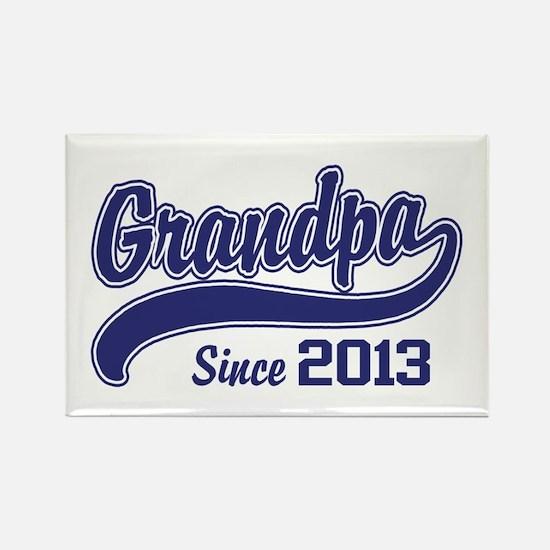 Grandpa Since 2013 Rectangle Magnet