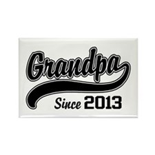 Grandpa Since 2013 Rectangle Magnet