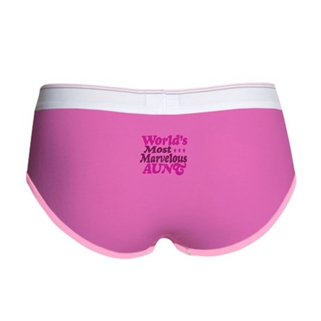 Worlds Most Marvelous Aunt Women's Boy Brief