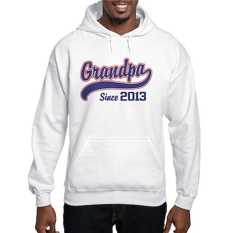 Grandpa Since 2013 Hooded Sweatshirt