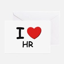 I love hr Greeting Cards (Pk of 10)