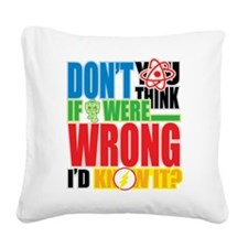 If I Were Wrong Square Canvas Pillow