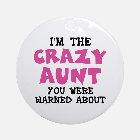 Crazy Aunt Ornament (Round)