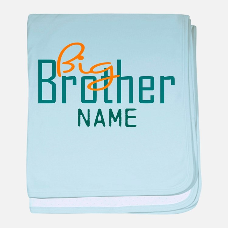 Add Name Big brother Print baby blanket