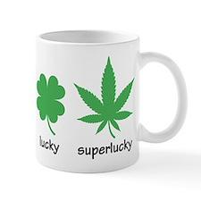 Superlucky Hemp Leaf (black font) Mug
