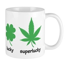 Superlucky Hemp Leaf (black font) Mug
