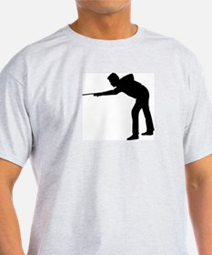Pool Player Silhouette T-Shirt