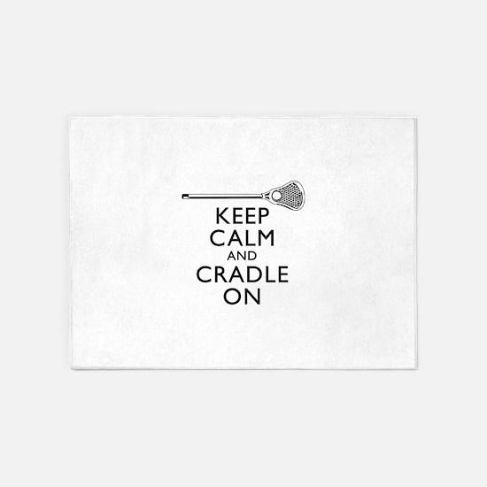 Keep Calm And Cradle On 5'x7'Area Rug