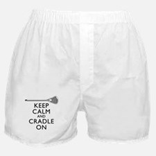 Keep Calm And Cradle On Boxer Shorts