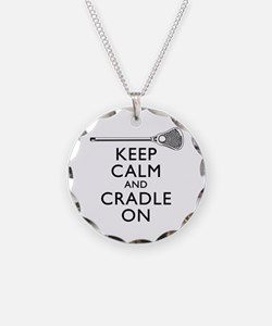 Keep Calm And Cradle On Necklace