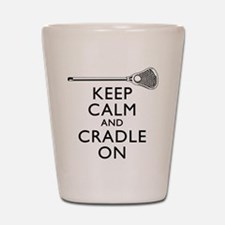 Keep Calm And Cradle On Shot Glass