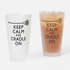 Keep Calm And Cradle On Drinking Glass