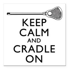 "Keep Calm And Cradle On Square Car Magnet 3"" x 3"""