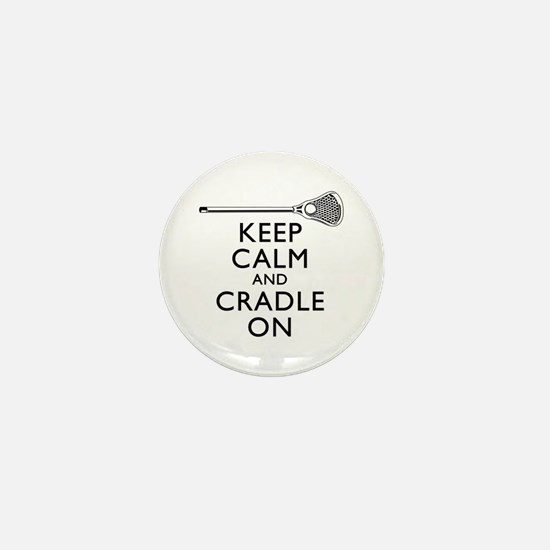 Keep Calm And Cradle On Mini Button