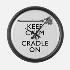 Keep Calm And Cradle On Large Wall Clock