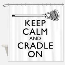 Keep Calm And Cradle On Shower Curtain