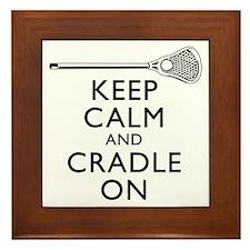 Keep Calm And Cradle On Framed Tile
