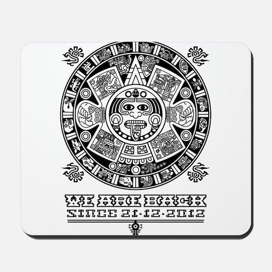 Maya - We are back since 2012 (black) Mousepad