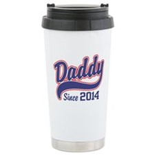 Daddy Since 2014 Stainless Steel Travel Mug