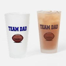 Team Dad-Football Drinking Glass