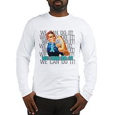 Rosie Riveter Myasthenia Gravis Long Sleeve T-Shir