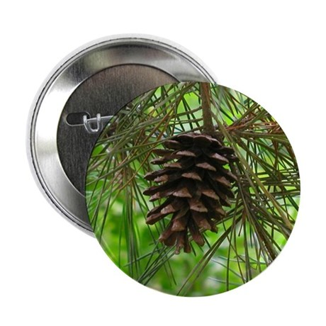 "Pine Cone too 2.25"" Button (10 pack)"