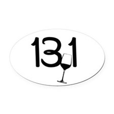 13.1 Wine Glass Oval Car Magnet