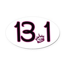 13.1 Crown Oval Car Magnet
