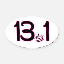 13.1 Crown Oval Car Magnet