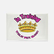 Trailer Park Queen In Training Rectangle Magnet