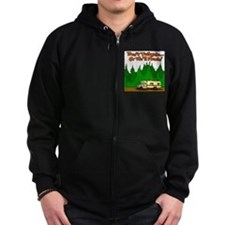 Don't Tailgate Or We'll Flush Zip Hoodie