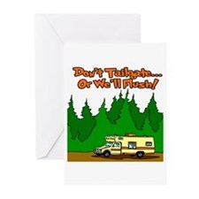 Don't Tailgate Or We'll Flush Greeting Cards (Pk o